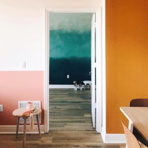 Colorful Ombre Walls