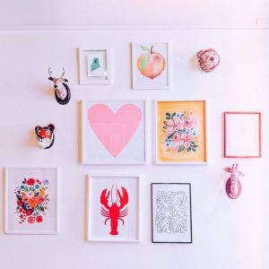 Colorful Art Wall Gus & Ruby Letterpress
