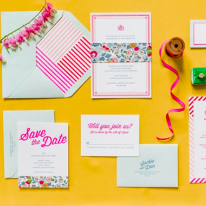 Colorful Wedding Invitation Suite Gus & Ruby Letterpress