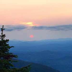 White Mountains Sunset New Hampshire