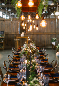 Wedding Table with Twinkle Lights