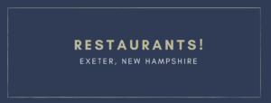 Best Restaurants Exeter New Hampshire