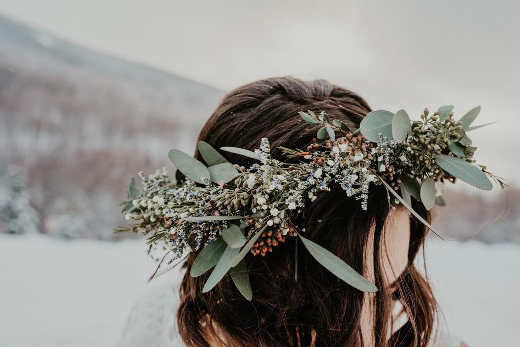 Flower Crown Mountain Wedding