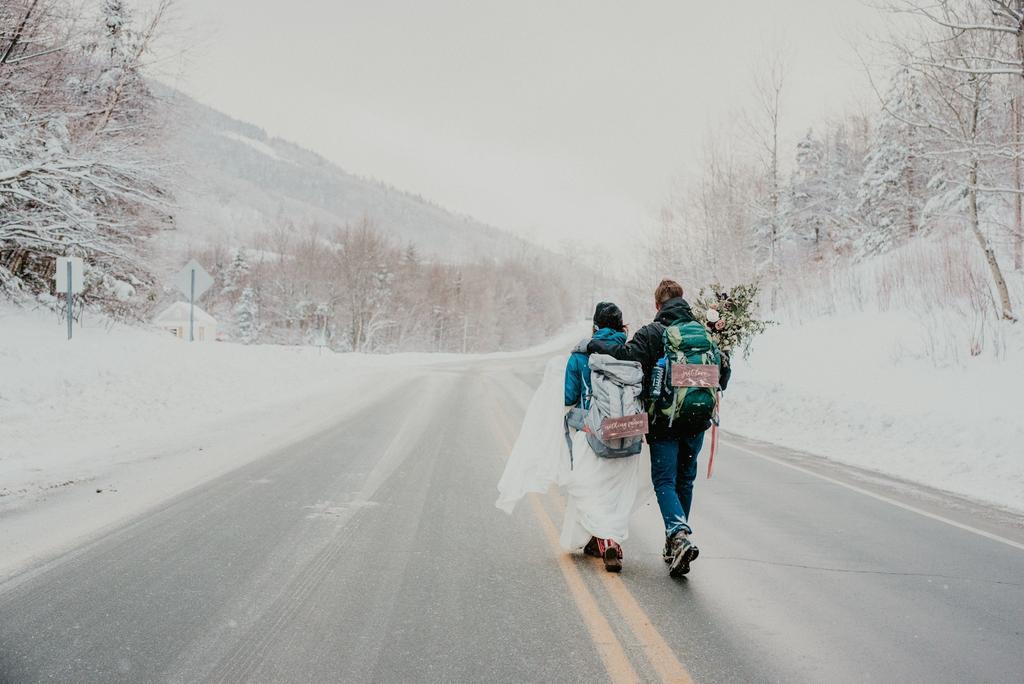 Beautiful New Hampshire Winter Wedding
