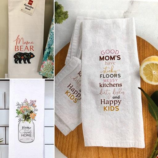 Mom tea towels | Whims & Whatnots Greenland NH