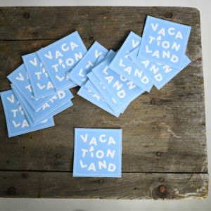 Vacationland Sticker